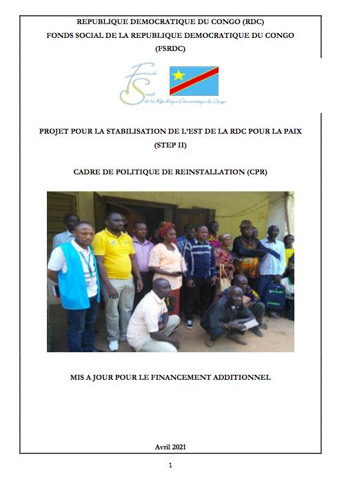 CADRE DE POLITIQUE DE REINSTALLATION, Rapport final août 2019