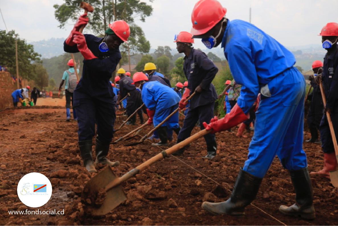 THIMO communautaires  à Walungu, 122 bénéficiaires au travail
